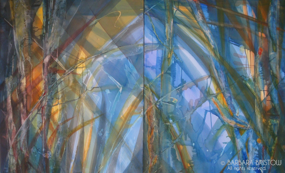 CATHEDRAL GRASS  2004 Mixed Media on Canvas 127cm x 204cm