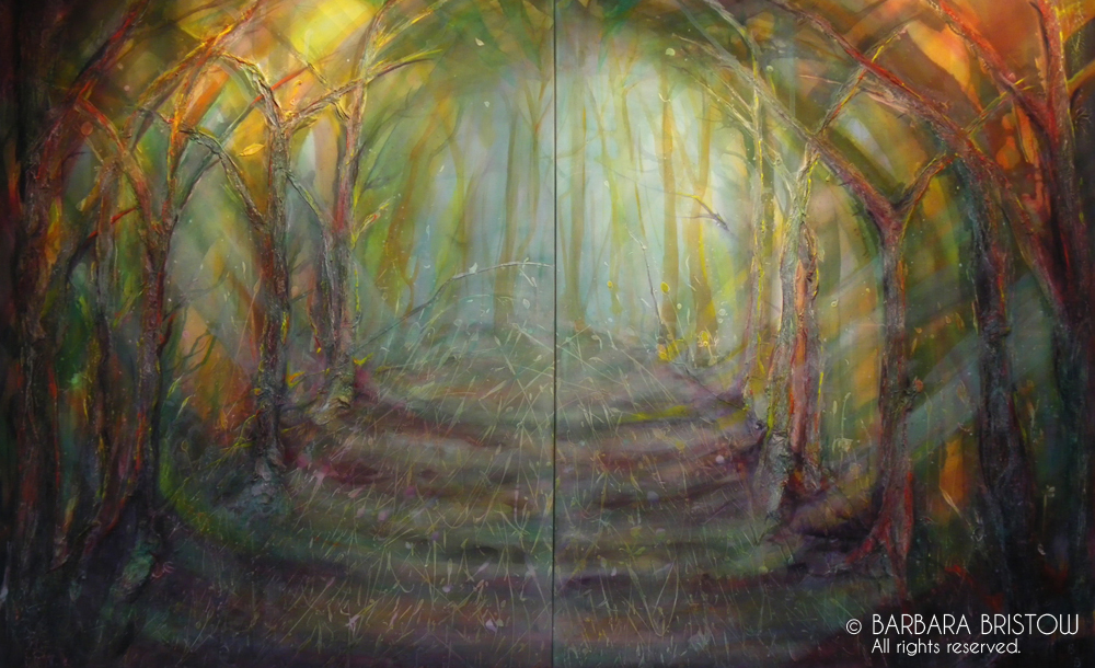 FOREST WALK  2010/13 Mixed Media on Canvas 127cm x 204cm