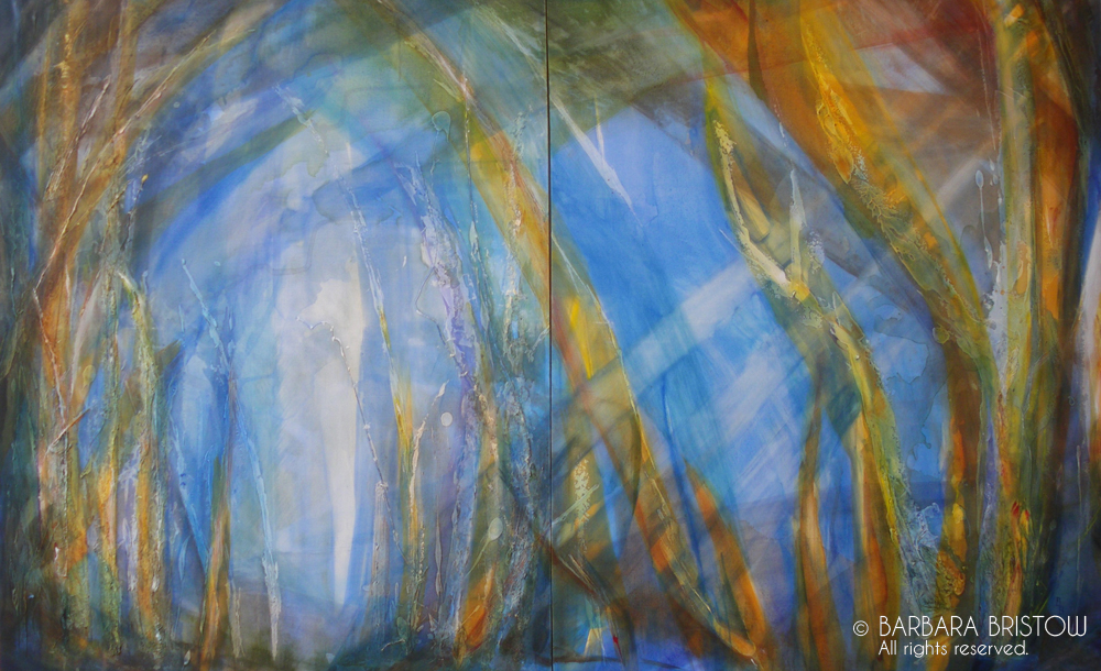 MAGIC FOREST  2004 Mixed Media on Canvas 127cm x 204cm