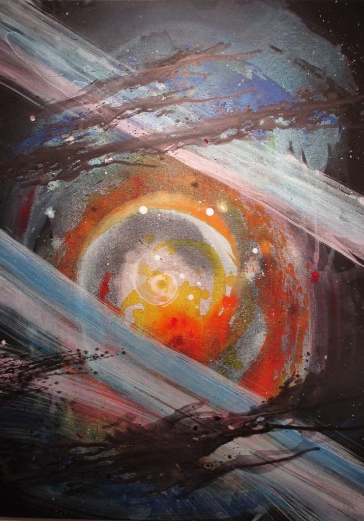 'Space Events' by BB (2019 ) Acrylic 80x 60cm